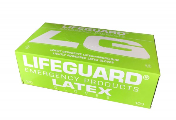 Lifeguard Handschuhe aus Latex, gepudert unsteril