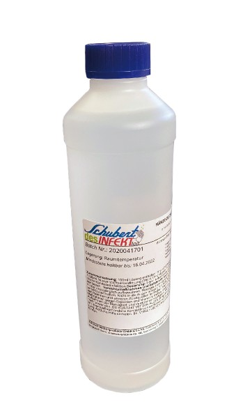 Händedesinfektion Schubert desINFEKTion  500 ml